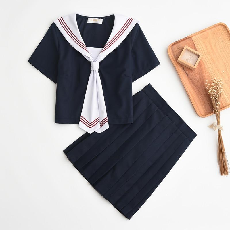 High School Students Female High Quality Uniform Jk Sailor Suit Student Wear Naval Style College Wind Suit