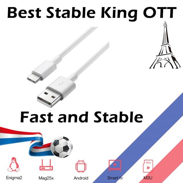 USB kablosu fransa için destek android akıllı TV kral OTT