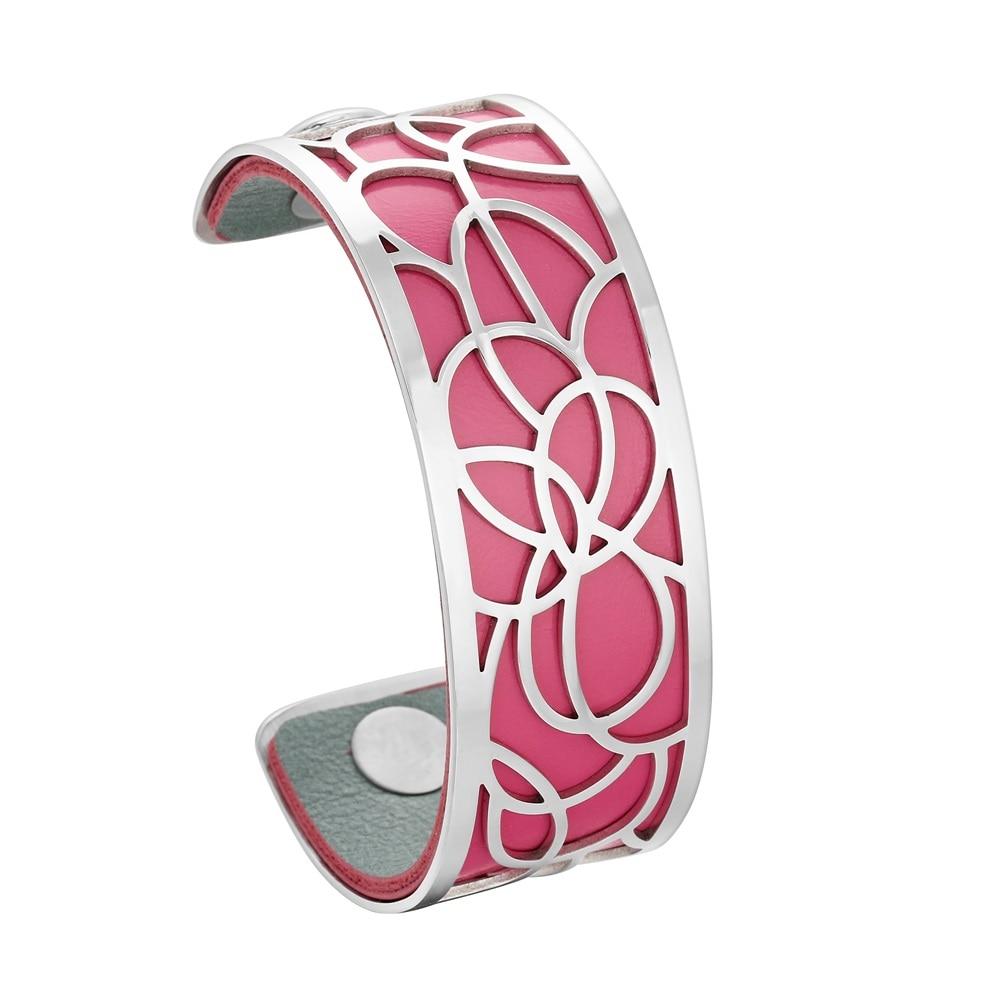 Legenstar Cuff Bracelets & Bangles For Women 25 Mm Stainless Steel Leather Bracelet Femme Jewelry Gift Send 1 Pcs Leather 2019