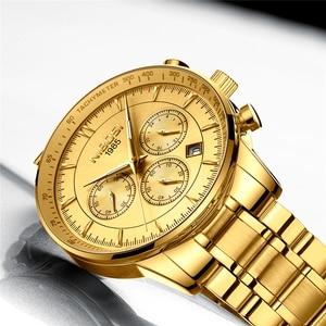 Image 3 - Relogio Masculino NIBOSI marque nouvelle mode hommes montres Top marque de luxe étanche Quartz montre hommes grand cadran affaires hommes montre