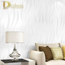 modern luxury 3D wallpaper stripe wall paper papel de parede damask wall paper for living room bedroom TV sofa background R178(China)