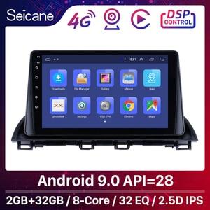 Image 1 - Rádio do carro de seicane android 9.0 2din reprodutor de vídeo multimídia gps para mazda 3 axela 2013 2018 suporte swc dvr obd wifi espelho link