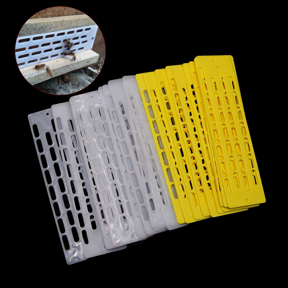 10PCS Beekeeping Tools Anti Escape Anti-Run Queen King Sheet Pieces Bees Queen Plastic Spacer Hive Equipment Tool Supplier