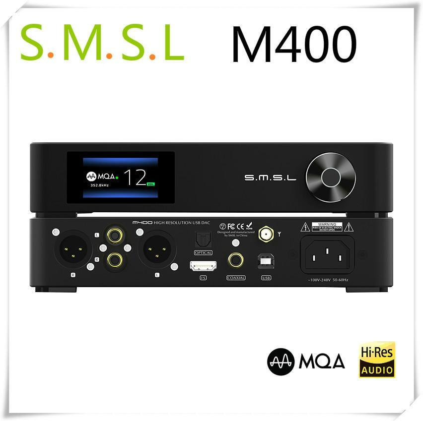SMSL M400 MQA <font><b>DAC</b></font> AK4499 Full Balanced APTX HD Bluetooth5.0 DSD <font><b>USB</b></font> Coaxial Optical Hifi Music XMOS Decoder image