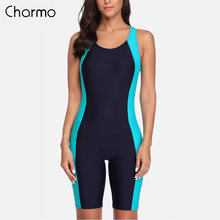 Charmo women's one piece sports swimwear pro swimsuit boyleg