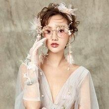 Сплав металлический олень цветок фея/мечта/Студия/горный хрусталь цветок бисер кисточки фото очки для стрельбы/косплей-очки