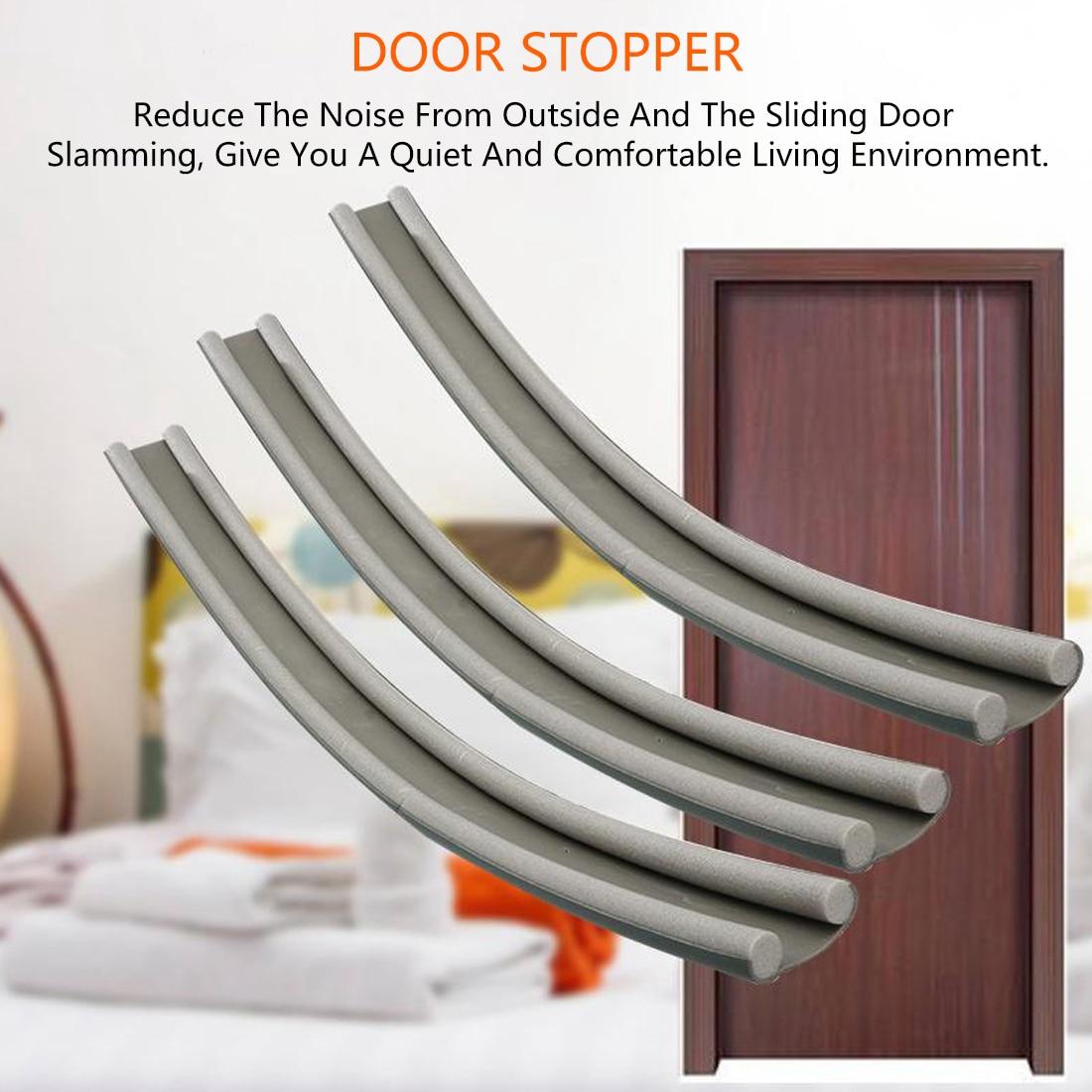 Flexible Door Stopper Weatherstrip Door Bottom Sealing Strip Guard Sealer 95cm
