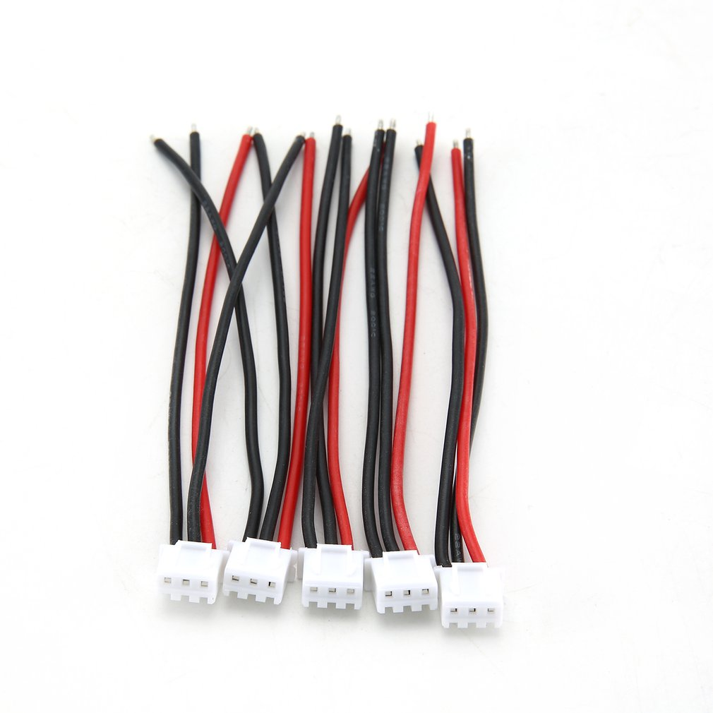 5Pcs Silicone Soft Line 100Mm Rc Drone Lipo Battery Balance Charger 2S 3S 4S 5S 6S 22Awg Cable For Lipo Battery