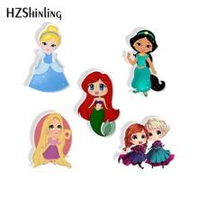 Забавный мультфильм красивые принцессы акриловая брошь сказочная история Милая принцесса Стиль эпоксидная акриловая смола брошь подарки для детей