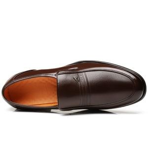 Image 3 - Large Size 46 Black formal shoes men Dress Shoes Genuine Leather shoes men Fashion Business Oxford Shoes for Men shoes leather