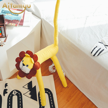 Funny Floor Stand Lamps Bedroom Decoration lighting cloth Cartoon Animal Lion Kids Floor Lamps for living room