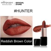 milletpepper HUNTER Lipstick Velvet Matte Professional Lips Makeup
