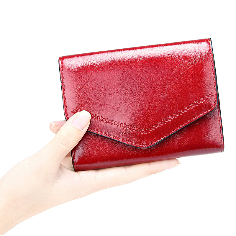 Envelope Women Wallet Patent Leather Ladies Short Coin Purse Women's Clutch Money Bags High Capacity Credit Card Holders Female