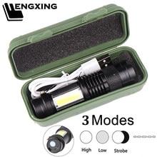 Mini lanterna led embutido bateria XP-G q5 zoom foco tocha lâmpada 2000 lúmen ajustável penlight para acampamento ao ar livre à prova dwaterproof água