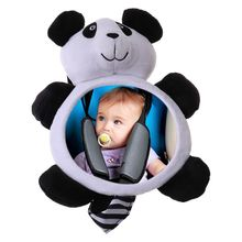Baby Rearview Mirrors Car Interior Accessories Infants Kids Plush Cartoon Toy Safety Seat Rear Mirror Wide View