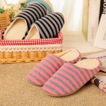 Women Shoes Slipper Home Fluffy Short Plush Flat Shoes Home Soft Warm Sneakers Slides Bedroom Striped Shoes Female @B28 cheap MUQGEW indoor Flock Rubber Low (1cm-3cm) Fits true to size take your normal size Basic Platform Winter Slipper Shoes Men s shoes