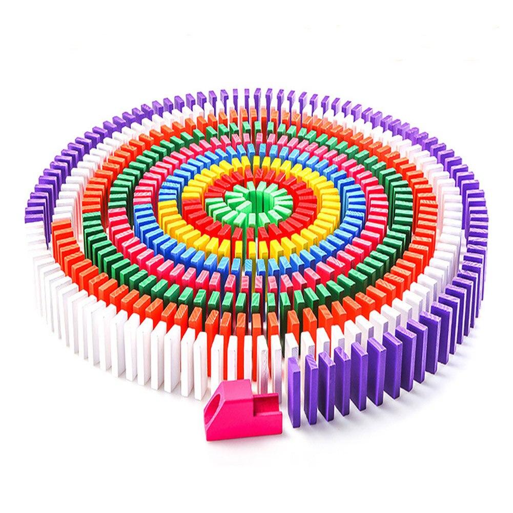 120 шт./компл. Красочный домино деревянные блоки для детей раннего образования играть в игрушки