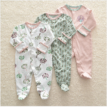 H6ee7831e446b477ea743e3d04a676aee8 Baby Girl Romper Newborn Sleepsuit Flower Baby Rompers 2019 Infant Baby Clothes Long Sleeve Newborn Jumpsuits Baby Boy Pajamas