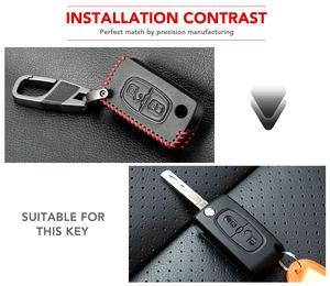Image 5 - Funda para llave de coche para Peugeot 301, 308, 408, 508, 2008, 308S, 3008, 4008, 5008, accesorios, llavero de cuero genuino, soporte para bolso