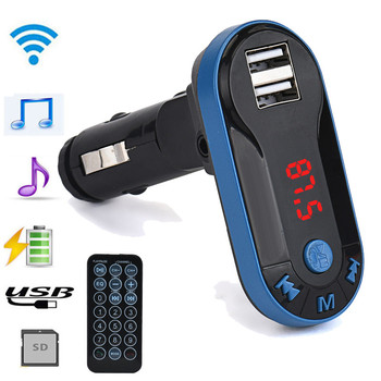 Bluetooth Wireless FM Transmitter MP3 Player Handsfree Car Kit USB TF SD Remote dropshipping image