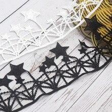 H733 91cm borla guarnição do laço ultra largo 11cm estrela tricô casamento bordado diy artesanal retalhos fita costura suprimentos artesanato