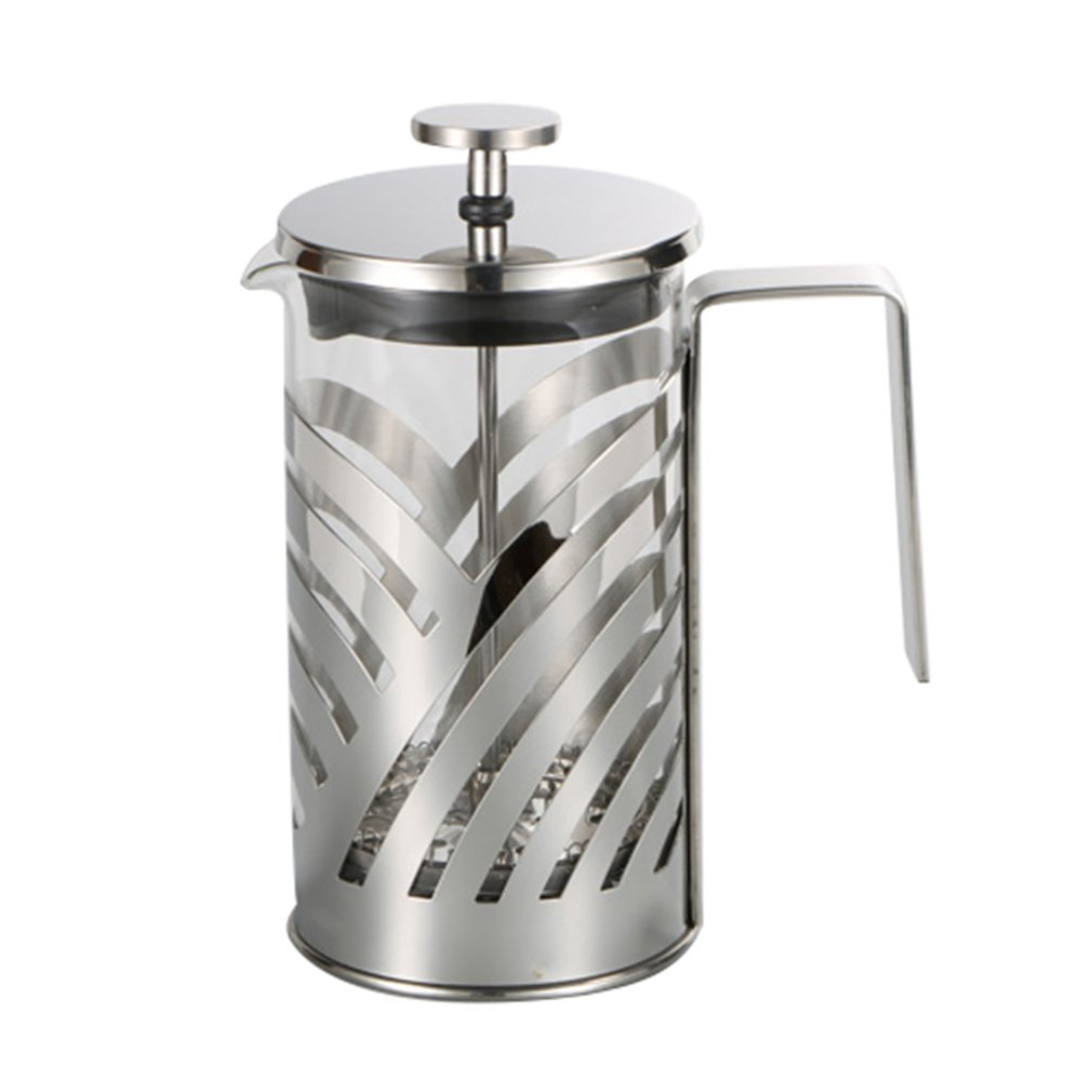 Stainless Steel French Press Coffee Maker Insulated Coffee Tea Brewer Pot Cafetiere Percolator Tool With Filter Baskets