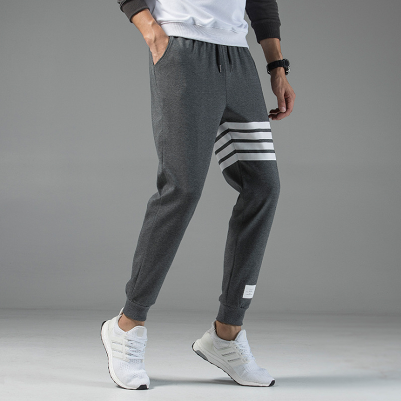 Pants men's Korean trend casual sports pants solid color loose high street pants men's jogging high quality knitted men's pants