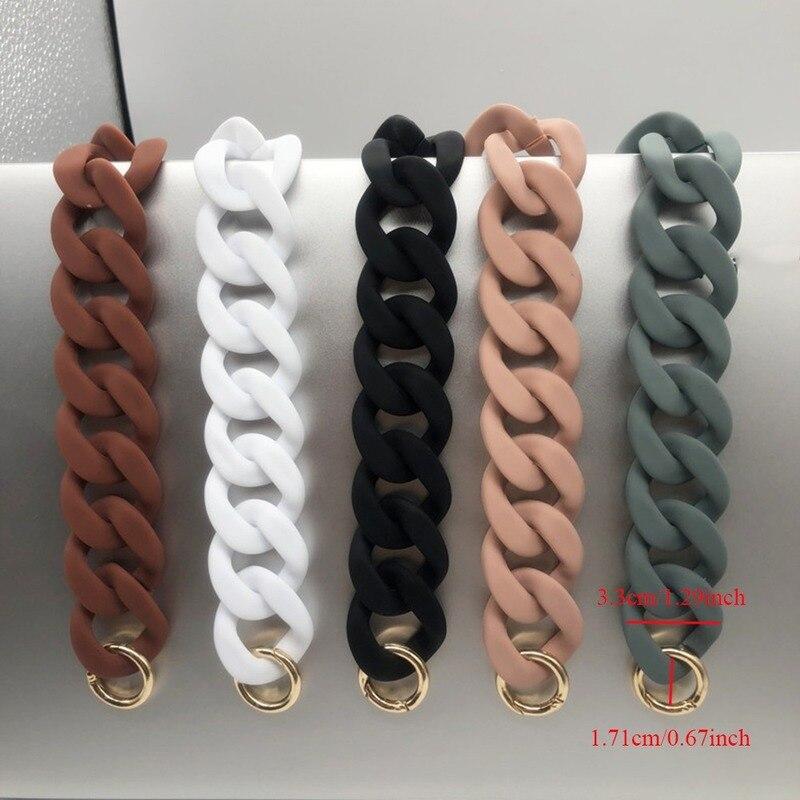 1 PC Shoulder Bags Accessories for Women 30cm/41cm DIY Fashion Colorful Detachable Acrylic Chain Handle Fish Bone Plastic Strap