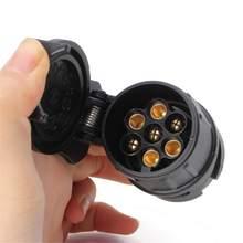 13 Pin 7 Pin fiş konnektörü Adaptörü 12V araç römorku Kamyon Karavan Çekme Çubuğu Soket Dönüştürücü Avrupa Standart Su Geçirmez
