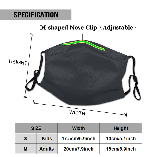 Anarchy Sons Ofwood Original Licensed Adult Washable Reusable Mask with 2Pcs PM2.5 Filters 5 Layers 1