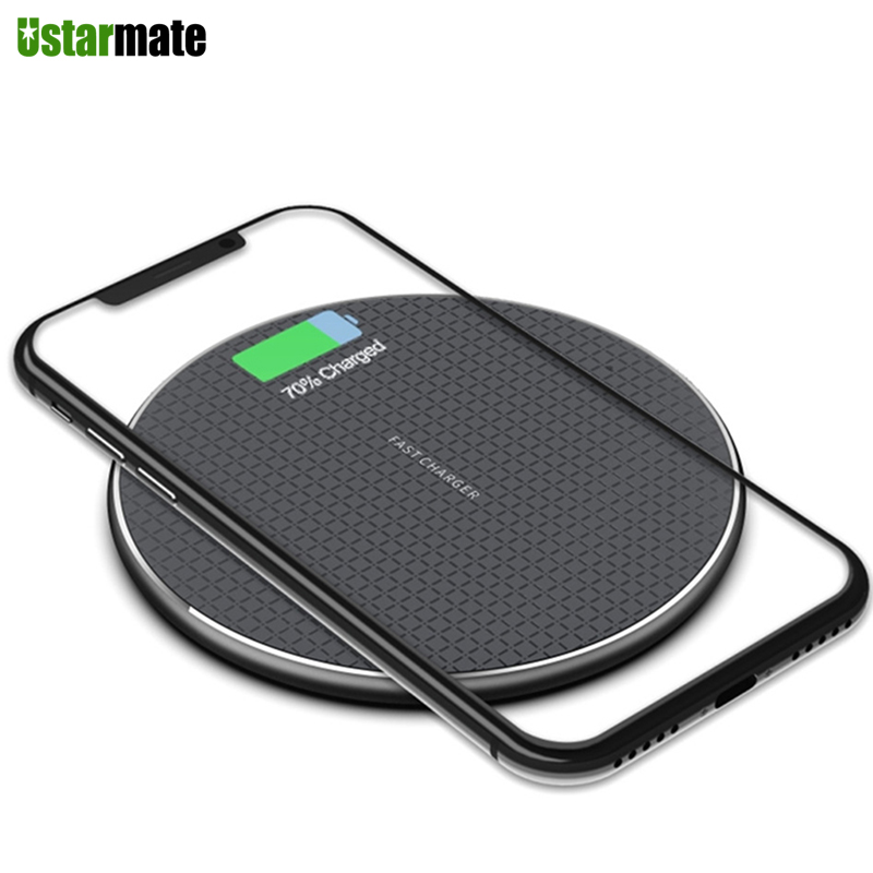 10w Phone Charger Pad Fast Qi Wireless Charger For Iphone 11 Pro Max Xs Samsung Note 10 Xiaomi Quick Charging Dock Desk Charger