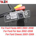 YAZH para Ford Fiesta ST Classic Ikon 2002-2008 cámara de visión trasera cámara de respaldo para vehículo cámara de aparcamiento para coche visión nocturna