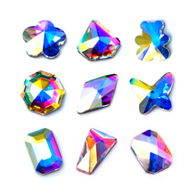 Stud Glass-Stones Nail-Art-Tips Crystal Ab 20pcs Mix-Shape New Fashion Rainbow for 3D