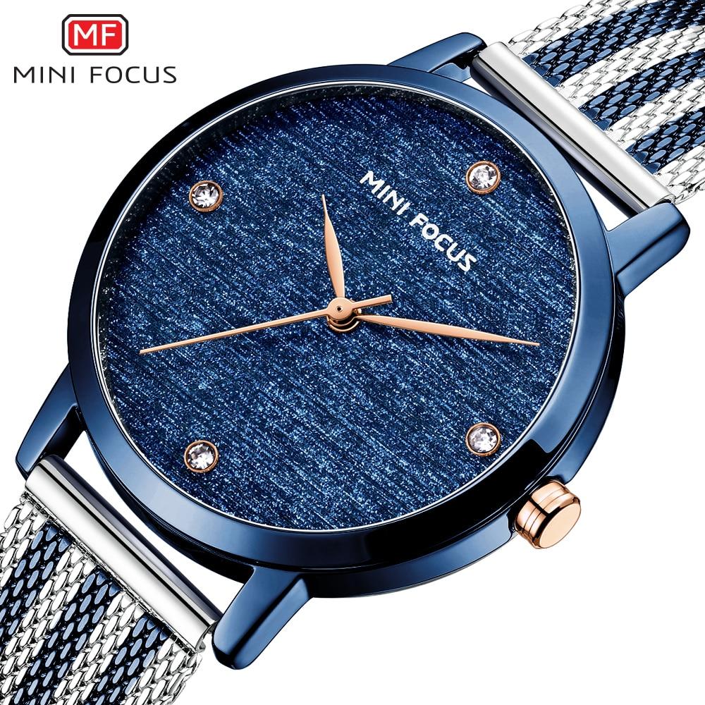 Top Brand Luxury MINIFOCUS Watch Woman Simple Waterproof Quartz Ladies Watches Female Clock Fashion Casual Feminino Montre 2020