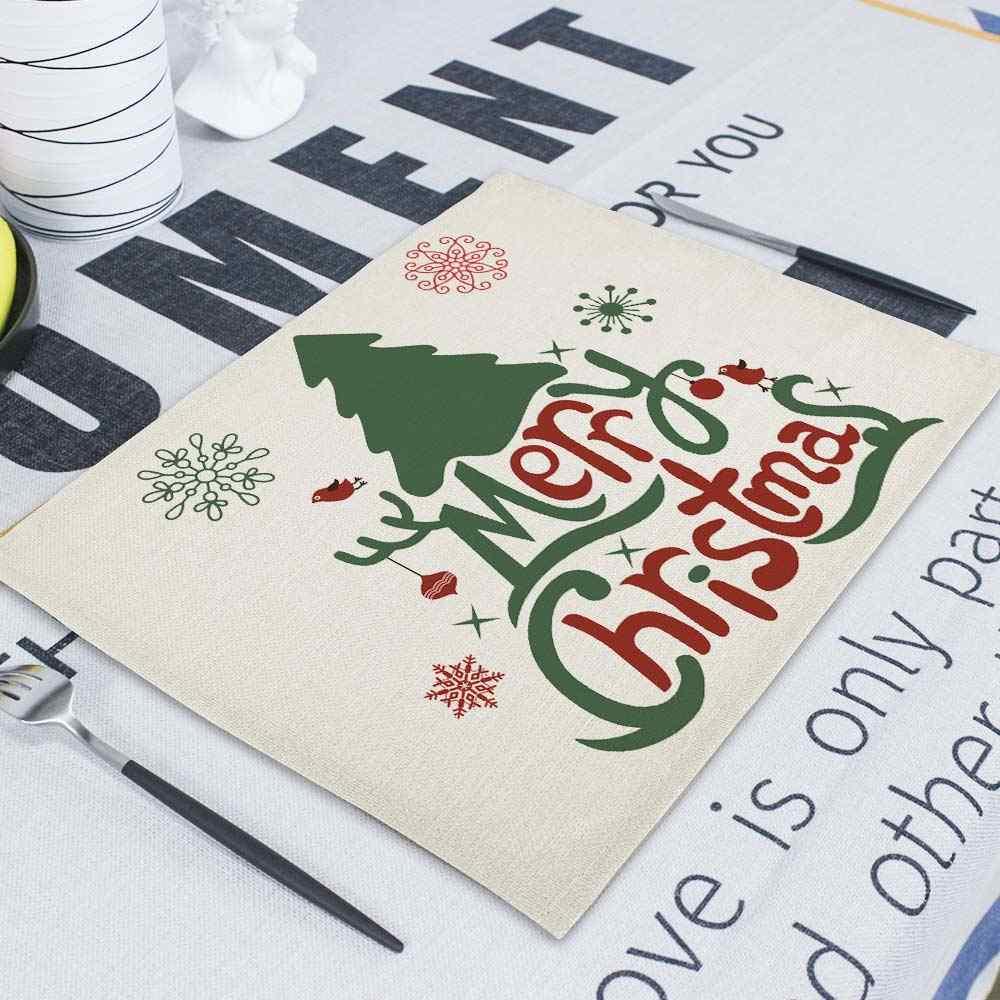 Santa Serviette serviettes en tissu torchons 43*32Cm décoration de noël rétro tissu serviettes Table Restaurant Table tapis Serviette