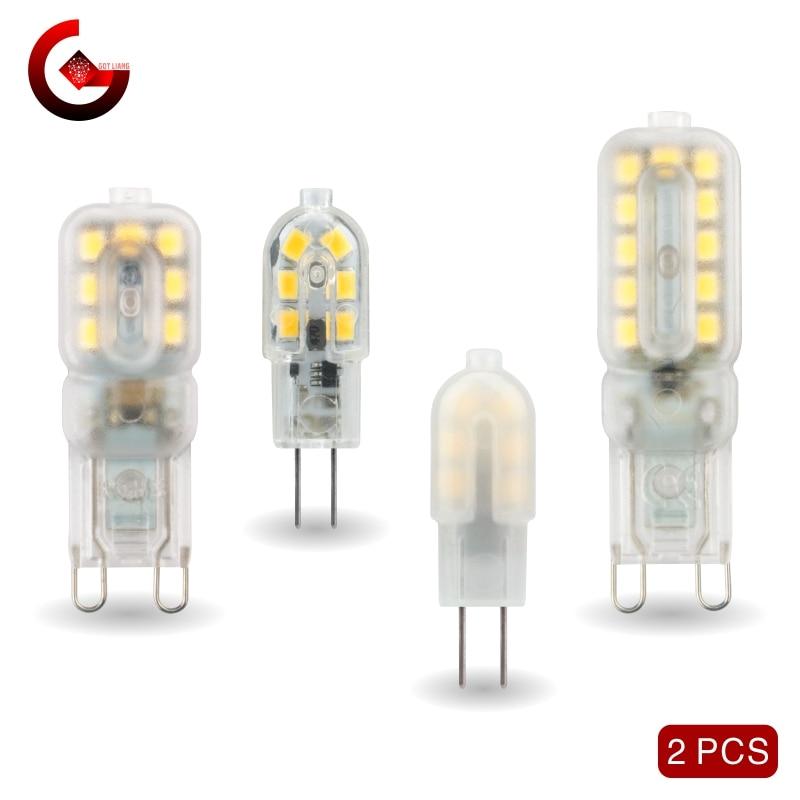 Светодиодная лампа 2 шт./лот G4 G9, 3 Вт, 5 Вт, 12 В постоянного тока, 220 В переменного тока, светодиодная лампа SMD2835, лампа для прожектора, люстры, см...