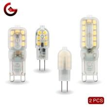 2 Stks/partij G4 G9 Led 3W 5W Gloeilamp Ac Dc 12V 220V Led Lamp SMD2835 spotlight Kroonluchter Verlichting Vervangen 30W 60W Halogeen Lampen