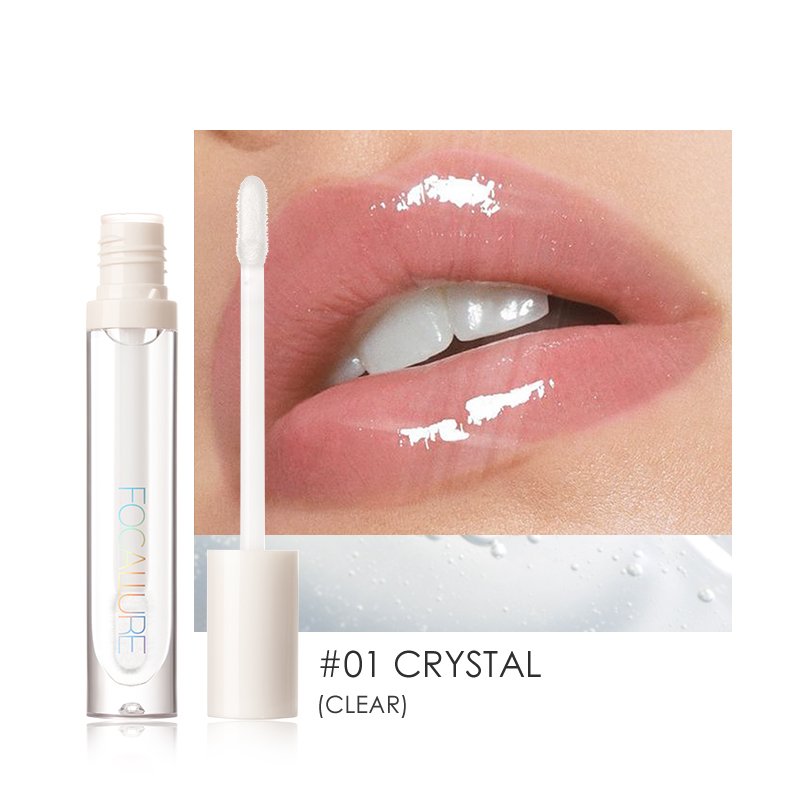 FOCALLURE PLUMPMAX Nourise Lip Glow High Shine&Shimmer Glossy Lips Makeup Non Sticky Plumping Lip Gloss 3