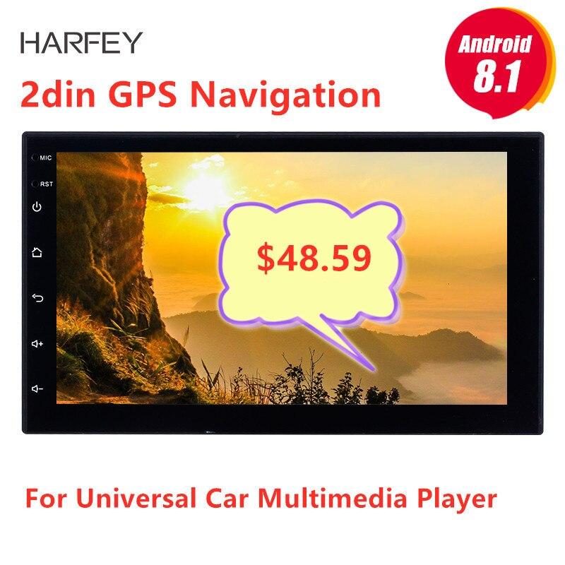 "Harfey 7 ""Universal Autoradio 2 din radio coche Android 8,1 La radio del coche de GPS para Nissan VW Toyota Kia rio Hyundai Suzuki Honda"