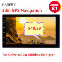 Harfey 7 Universal Autoradio 2 din radio coche Android 8,1 La radio del coche de GPS para Nissan VW Toyota Kia rio Hyundai Suzuki Honda