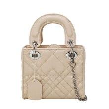 Advanced sense handbag female 2019 new fashion brand design rhombic chain portable small square  shoulder Messenger bag