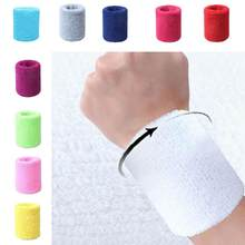 Unisex Sports Wrist Protector Gym Elastic Solid Wrist Band Fitness Sweatband(China)