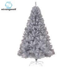 Strongwell шифрование сосна большая Серебряная Рождественская елка искусственные украшения Рождественская елка украшение для домашнего декора