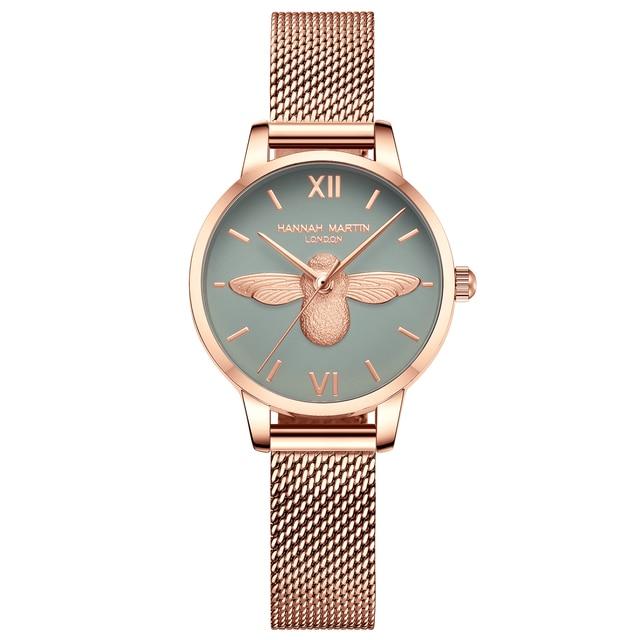 Women Watches Mesh Stainless Steel 3D design dial Japan Quartz Movement Top Brand Female Waterproof Wristwatch Clock Relogio