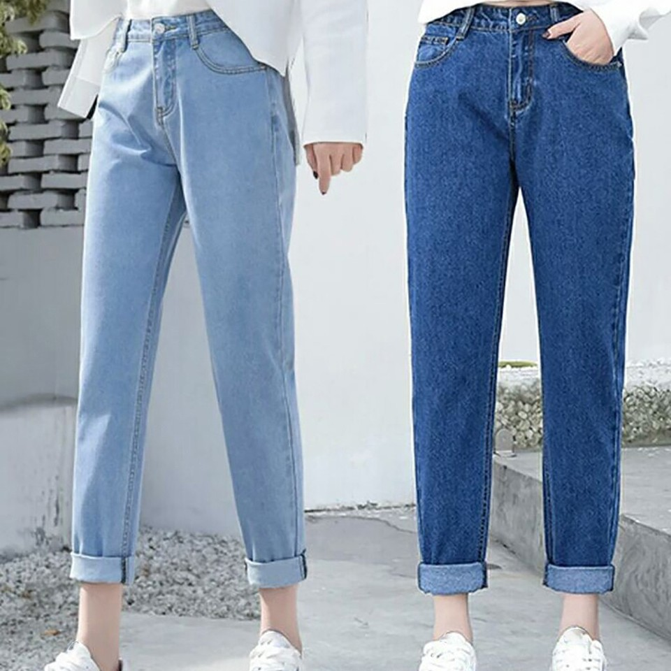 New Ladies Jeans Slim Pencil Pants Vintage Mom High Waist Blue Casual Jeans Full Length Pants Loose Cowboy Pants Dzhinsy Zhenskie Jeans Aliexpress