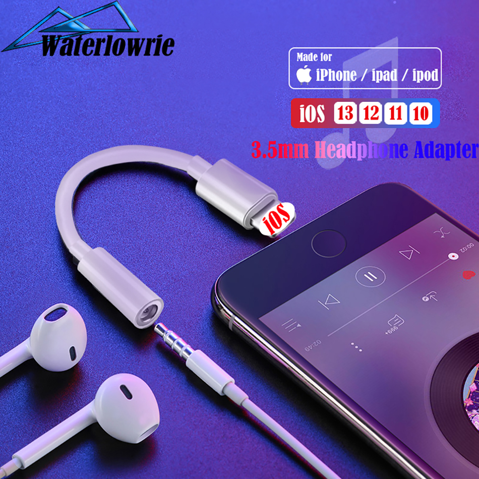 For Lightning To 3.5mm Headphones Audio AUX Adapter For IPhone 7 8 Plus XR XI XS MAX 3.5mm Jack Cable For Lightning 3.5 Splitter