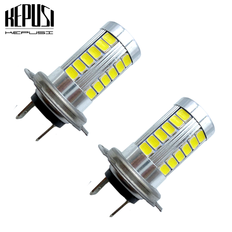 2x Car H7 LED Fog Light DRL Driving Running Lamp 12V white blue Auto led automotivo lamp Accessories