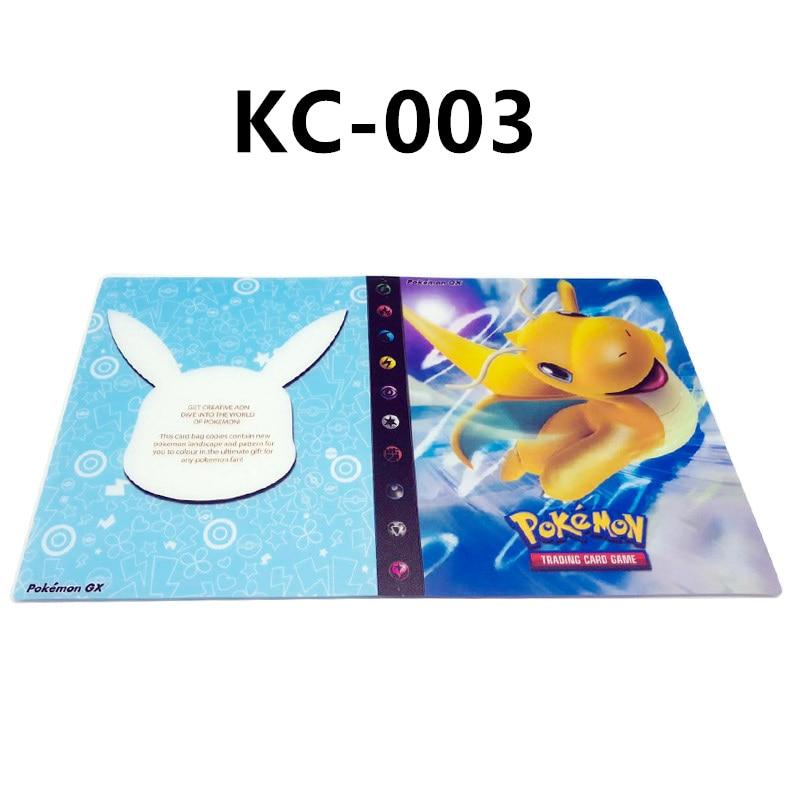 24 стиля Pokemon Cards альбом книга мультфильм аниме Карманный Монстр Пикачу 240 шт держатель альбомная игрушка для детей подарок - Цвет: KC-003