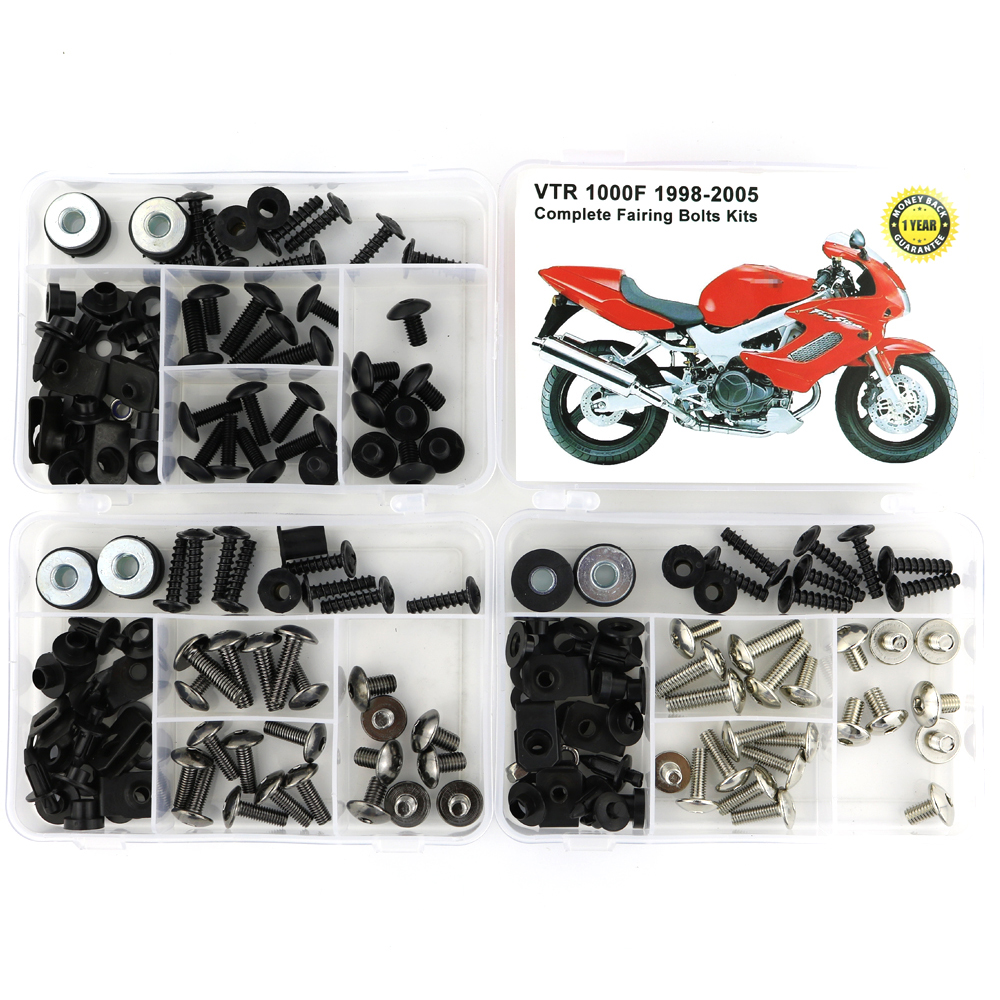 Fit For Honda VTR1000F VTR 1000F 1998-2005 Motorcycle Complete Full Fairing Bolts Kit Clips Nuts Screws Steel