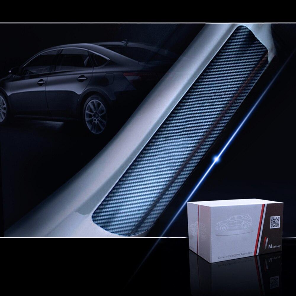 Car For Porsche Cayenne Sharan Carbon Fiber Vinyl Stickers Car Accessories Door Sill Protector Scuff Plate Door Sill Protector